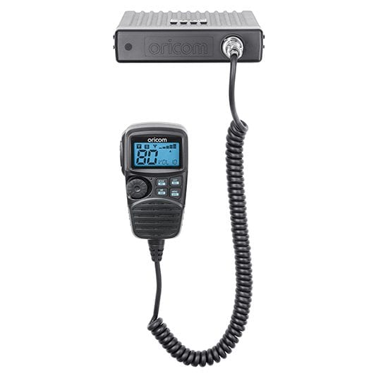 UHF CB Mobile 2-Way Radio - 80Ch. 5W Dual Receive Speaker Microphone