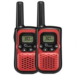 UHF CB Handheld 2-Way Radio - 80Ch. 0.5W Pair (Red)