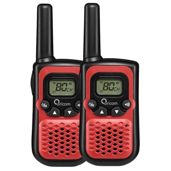 UHF CB Handheld 2-Way Radio - 80Ch. 0.5W Pair (Red)