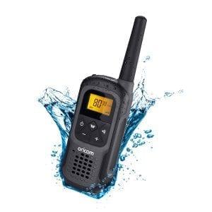 UHF CB Handheld 2-Way Radio - 80Ch. 2W Waterproof IPX7 Portable Single Pack