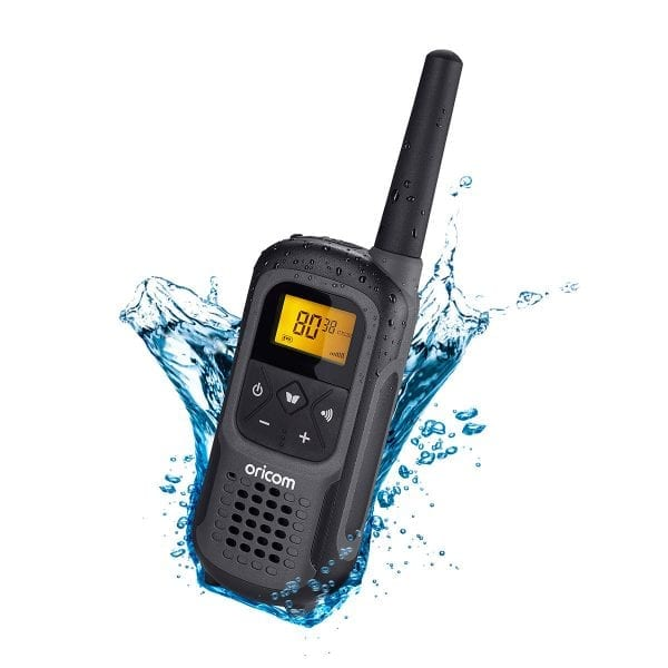 UHF CB Handheld 2-Way Radio - 80Ch. 2W Waterproof IPX7 Portable Single Pack