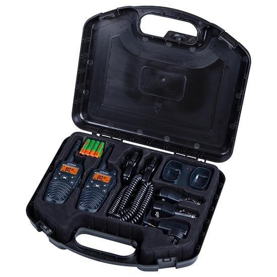 UHF CB Handheld 2-Way Radio - 80Ch. 2W Trade Pack with 2 x Spk  Mic & Chg