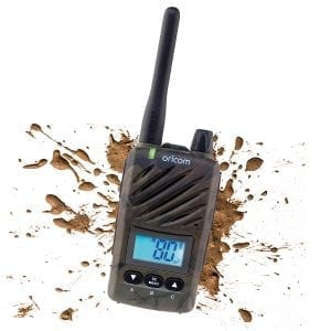 UHF CB Handheld 2-Way Radio - 80Ch. 5W Waterproof IP67 Portable Camo Ed.