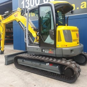 EZ80 Tracked Excavator - Zero Tail Swing - Incl Easy Lock Hitch
