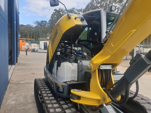 EZ80 Tracked Excavator - Zero Tail Swing - Incl Easy Lock Hitch