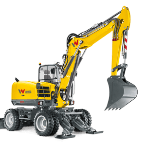 EW100 Wheeled Excavator - Incl. Easy Lock Hitch