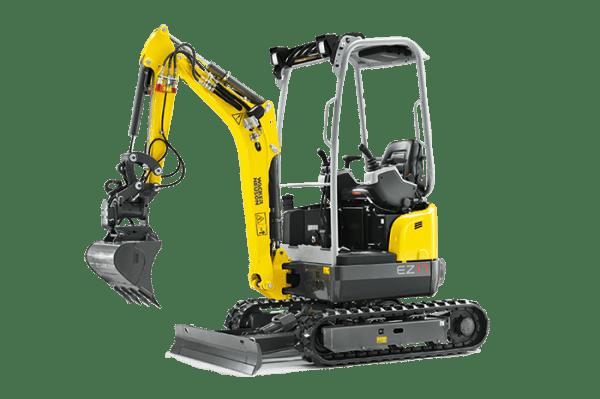 EZ17 Tracked Excavator - Zero Tail Swing - Including Easy Lock Hitch