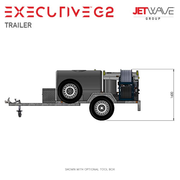 Jetwave Executive G2 High Pressure Water Trailer
