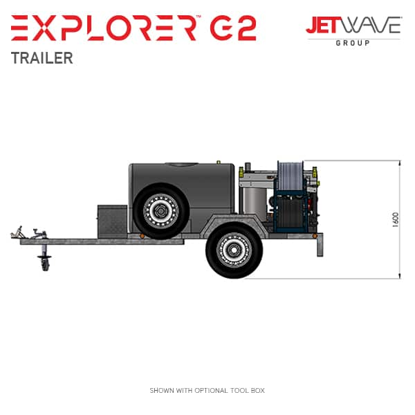 Jetwave Explorer G2 High Pressure Water Trailer