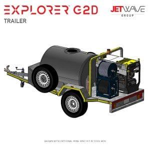 Jetwave Explorer G2D High Pressure Water Trailer