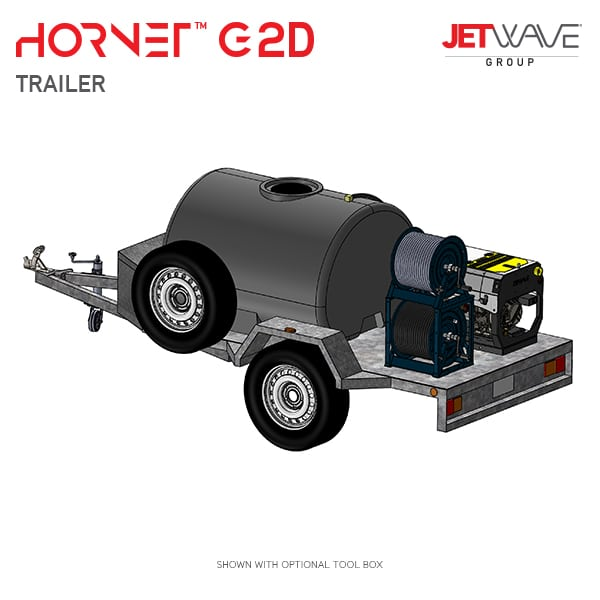 Jetwave Hornet G2D High Pressure Water Trailer