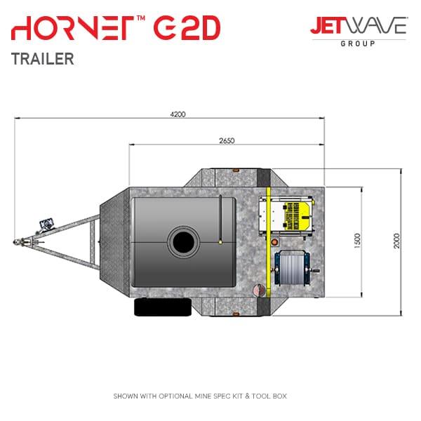 Jetwave Hornet G2D High Pressure Water Trailer