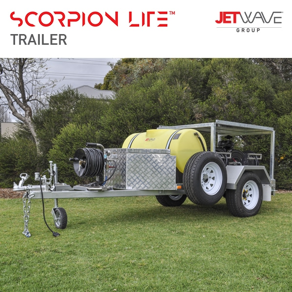 Jetwave Scorpion Lite Trailer - Jetting & Drain Equipment