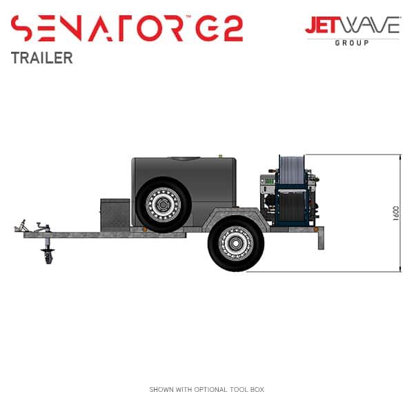Jetwave Senator G2 High Pressure Water Trailer
