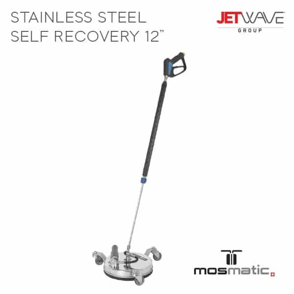 Jetwave 12'' Stainless Steel Self Recovery Flat Surface Cleaner